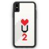 iPhone XS Max Silikon Hülle - Love U2 #02 Pixel
