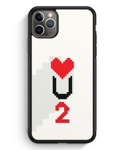 iPhone 11 Pro Max Silikon Hülle - Love U2 #02 Pixel