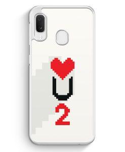 Samsung Galaxy A20e Hardcase Hülle - Love U2 #02 Pixel