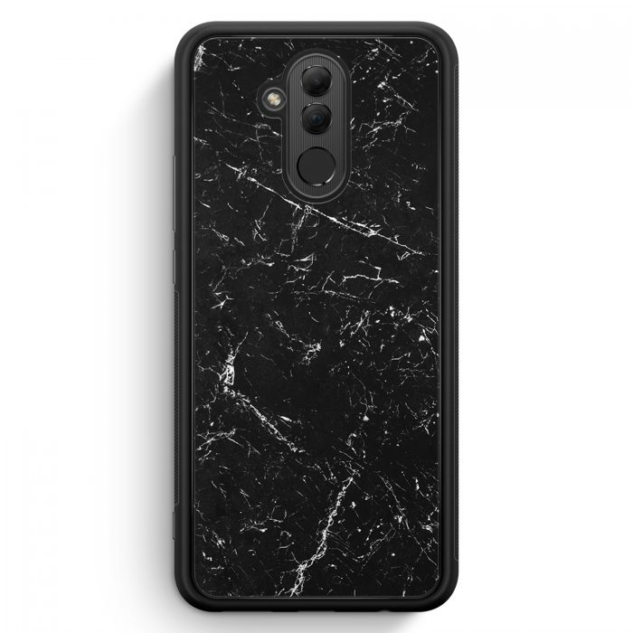 Huawei Mate 20 Lite Silikon Hülle - Marmor Marble Schwarz