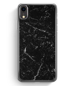 iPhone XR Hardcase Hülle - Marmor Marble Schwarz