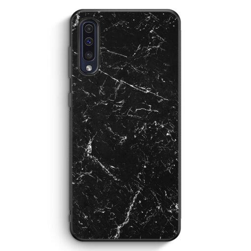 Samsung Galaxy A50 Silikon Hülle - Marmor Marble Schwarz