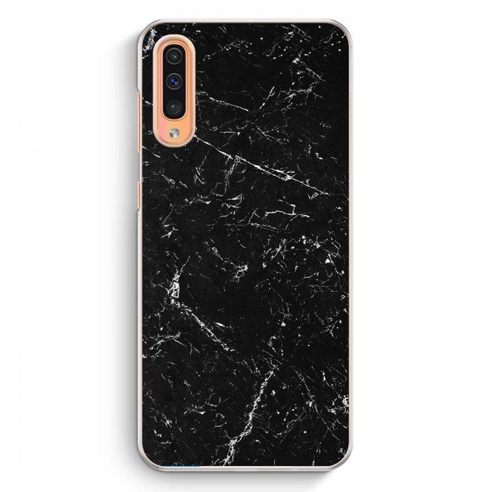 Samsung Galaxy A50 Hardcase Hülle - Marmor Marble Schwarz