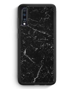 Samsung Galaxy A70 Silikon Hülle - Marmor Marble Schwarz