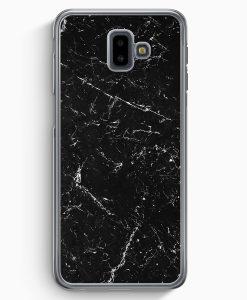 Samsung Galaxy J6+ Plus (2018) Hardcase Hülle - Marmor Marble Schwarz