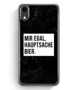 iPhone XR Hardcase Hülle - Mir Egal Hauptsache Bier