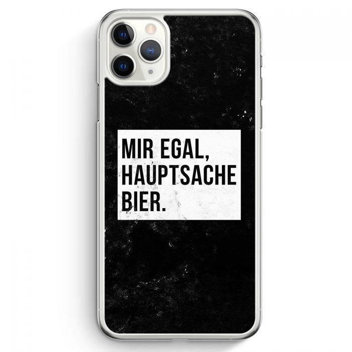 iPhone 11 Pro Hardcase Hülle - Mir Egal Hauptsache Bier