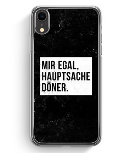 iPhone XR Hardcase Hülle - Mir Egal Hauptsache Döner