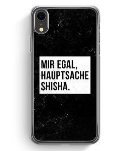 iPhone XR Hardcase Hülle - Mir Egal Hauptsache Shisha