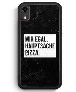 iPhone XR Silikon Hülle - Mir Egal Hauptsache Pizza