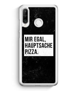 Huawei P30 Lite Hardcase Hülle - Mir Egal Hauptsache Pizza