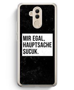 Huawei Mate 20 Lite Hardcase Hülle - Mir Egal Hauptsache Sucuk