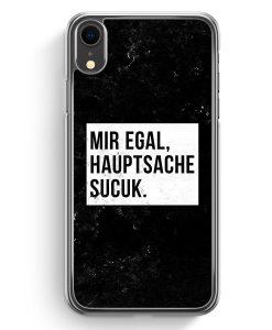 iPhone XR Hardcase Hülle - Mir Egal Hauptsache Sucuk
