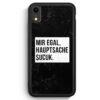 iPhone XR Silikon Hülle - Mir Egal Hauptsache Sucuk