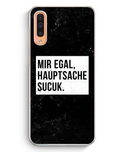 Samsung Galaxy A50 Hardcase Hülle - Mir Egal Hauptsache Sucuk