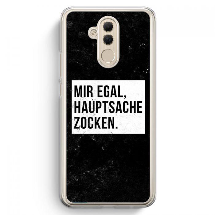 Huawei Mate 20 Lite Hardcase Hülle - Mir Egal Hauptsache Zocken