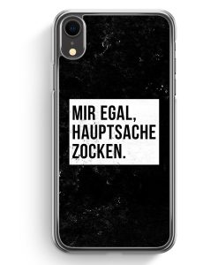 iPhone XR Hardcase Hülle - Mir Egal Hauptsache Zocken