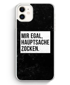 iPhone 11 Hardcase Hülle - Mir Egal Hauptsache Zocken