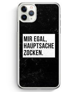 iPhone 11 Pro Max Hardcase Hülle - Mir Egal Hauptsache Zocken
