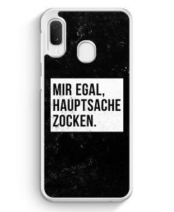 Samsung Galaxy A20e Hardcase Hülle - Mir Egal Hauptsache Zocken