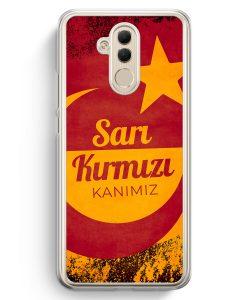 Huawei Mate 20 Lite Hardcase Hülle - Sari Kirmizi Kanimiz Türkei Türkiye