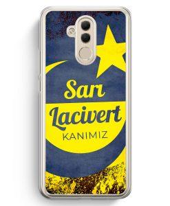 Huawei Mate 20 Lite Hardcase Hülle - Sari Lacivert Kanimiz Türkei Türkiye
