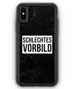 iPhone XS Max Silikon Hülle - Schlechtes Vorbild
