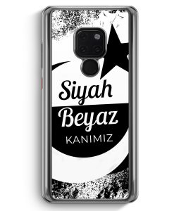 Huawei Mate 20 Hardcase Hülle - Siyah Beyaz Kanimiz Türkei Türkiye