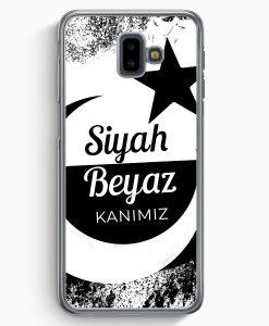Samsung Galaxy J6+ Plus (2018) Hardcase Hülle - Siyah Beyaz Kanimiz Türkei Türkiye