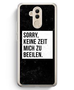 Huawei Mate 20 Lite Hardcase Hülle - Sorry Keine Zeit Muss Mich Beeilen