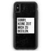 iPhone XS Max Silikon Hülle - Sorry Keine Zeit Muss Mich Beeilen
