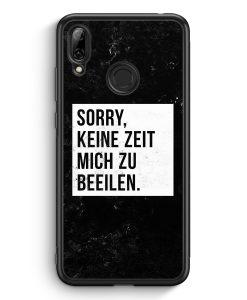 Huawei Y7 (2019) Silikon Hülle - Sorry Keine Zeit Muss Mich Beeilen