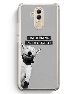 Huawei Mate 20 Lite Hardcase Hülle - SW Bullterrier Pizza?