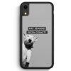 iPhone XR Silikon Hülle - SW Bullterrier Pizza?