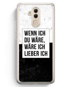Huawei Mate 20 Lite Hardcase Hülle - Wenn Ich Du Wäre