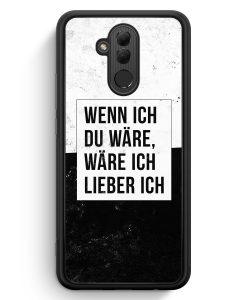 Huawei Mate 20 Lite Silikon Hülle - Wenn Ich Du Wäre