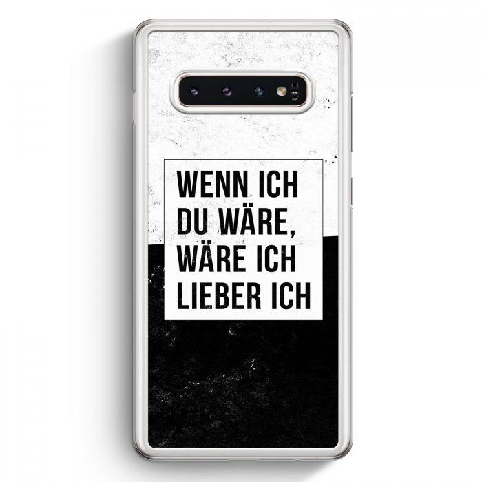 Samsung Galaxy S10+ Plus Hardcase Hülle - Wenn Ich Du Wäre