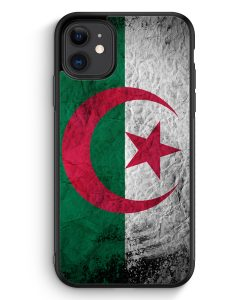iPhone 11 Silikon Hülle - Algerien Splash Flagge