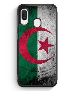 Samsung Galaxy A20e Silikon Hülle - Algerien Splash Flagge