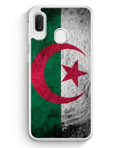 Samsung Galaxy A20e Hardcase Hülle - Algerien Splash Flagge