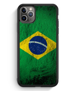 iPhone 11 Pro Max Silikon Hülle - Brasilien Splash Flagge
