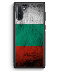 Samsung Galaxy Note 10 Silikon Hülle - Bulgarien Splash Flagge