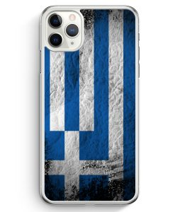 iPhone 11 Pro Max Hardcase Hülle - Griechenland Splash Flagge