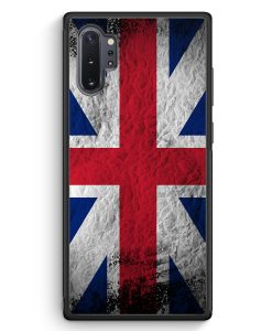 Samsung Galaxy Note 10+ Plus Silikon Hülle - Großbritannien Splash Flagge
