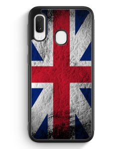 Samsung Galaxy A20e Silikon Hülle - Großbritannien Splash Flagge