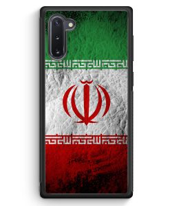Samsung Galaxy Note 10 Silikon Hülle - Iran Splash Flagge