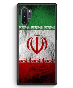 Samsung Galaxy Note 10+ Plus Silikon Hülle - Iran Splash Flagge