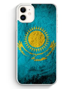 iPhone 11 Hardcase Hülle - Kasachstan Splash Flagge