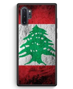 Samsung Galaxy Note 10+ Plus Silikon Hülle - Libanon Splash Flagge