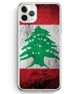 iPhone 11 Pro Hardcase Hülle - Libanon Splash Flagge